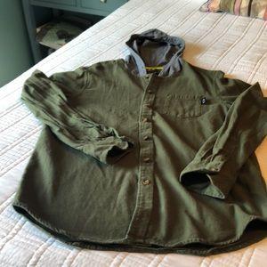 Oakley hooded flannel